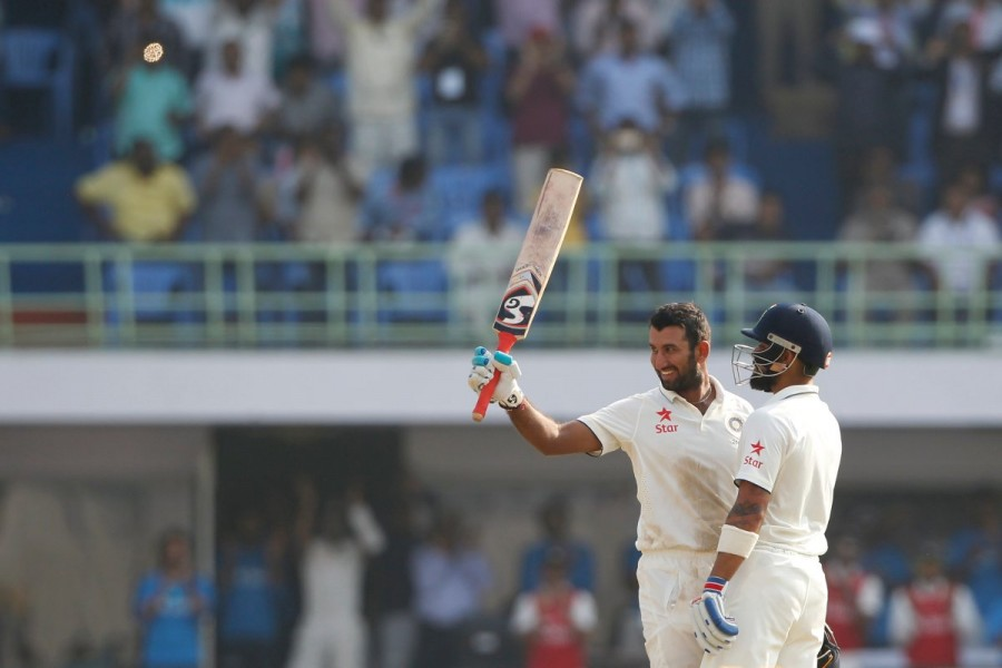 India vs England,Virat Kohli,Cheteshwar Pujara,Virat Kohli and Cheteshwar Pujara,India vs England Vizag Test,Ind vs Eng,India vs England test match,India vs England pics,India vs England images,India vs England photos,India vs England stills,India vs Engl