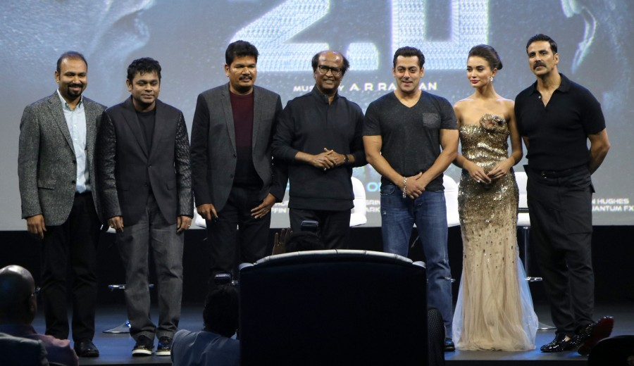 2.0 first look launch,2.0 first look,2.0 first look launch live,2.0 first look launch pics,2.0 first look launch images,2.0 first look launch photos,2.0 first look launch pictures,2.0 first look launch stills,Rajinikanth,Akshay Kumar,AR Rahman