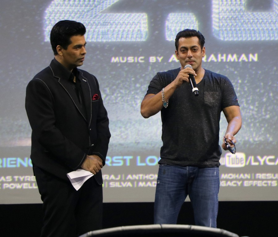Salman Khan at 2.0 first look launch,Salman Khan at 2.0 first look,Salman Khan,actor Salman Khan,2.0 first look launch,2.0 first look