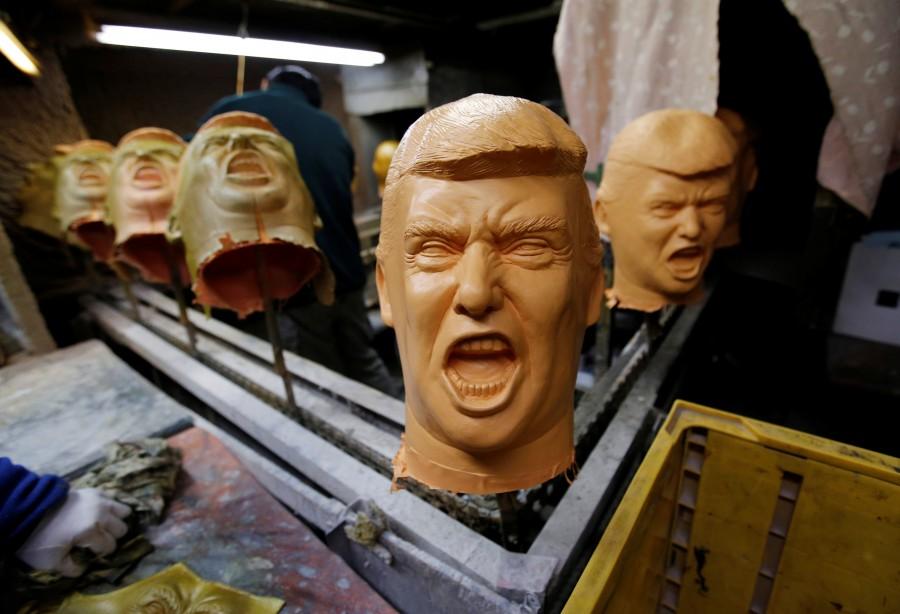 Donald Trump,Donald Trump masks,Donald Trump masks in Japan,Ogawa Studios,mask making company,U.S. President-elect Donald Trump