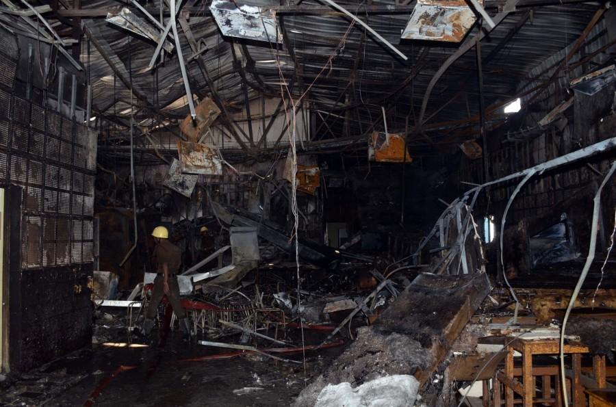 Fire at SSKM hospital,SSKM hospital,SSKM,Kolkata,fire broke out in West Bengal
