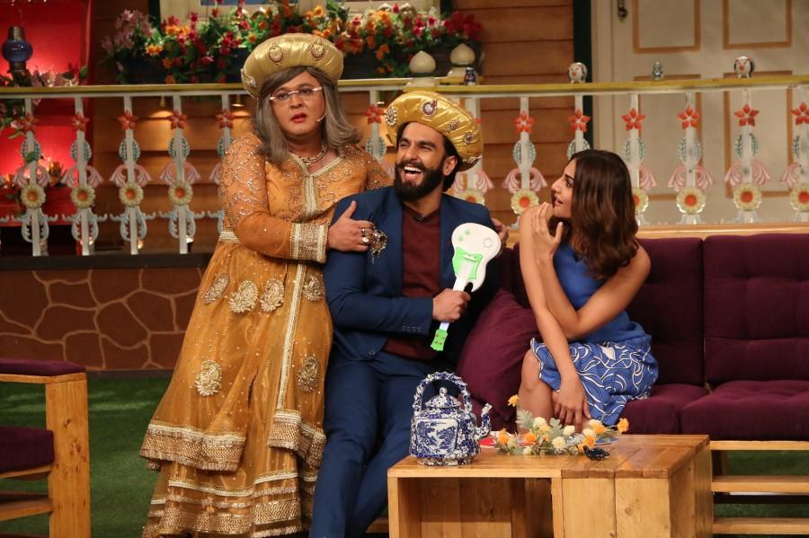Ranveer Singh and Vaani Kapoor,Ranveer Singh,Vaani Kapoor,Befikre,Befikre promotion,Befikre movie promotion,Befikre on the sets of The Kapil Sharma Show,The Kapil Sharma Show