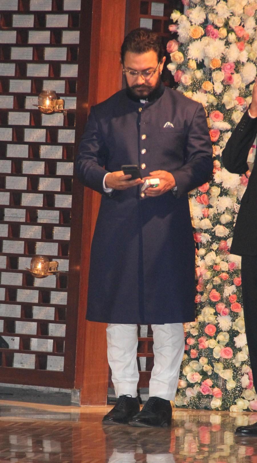 Amitabh Bachchan,Aamir Khan,Kiran Rao,Ambani,Ambani pre-wedding bash,celebs at Ambani pre-wedding bash,Ambani pre-wedding bash pics,Ambani pre-wedding bash images,Ambani pre-wedding bash photos,Aamir Khan and Kiran Rao