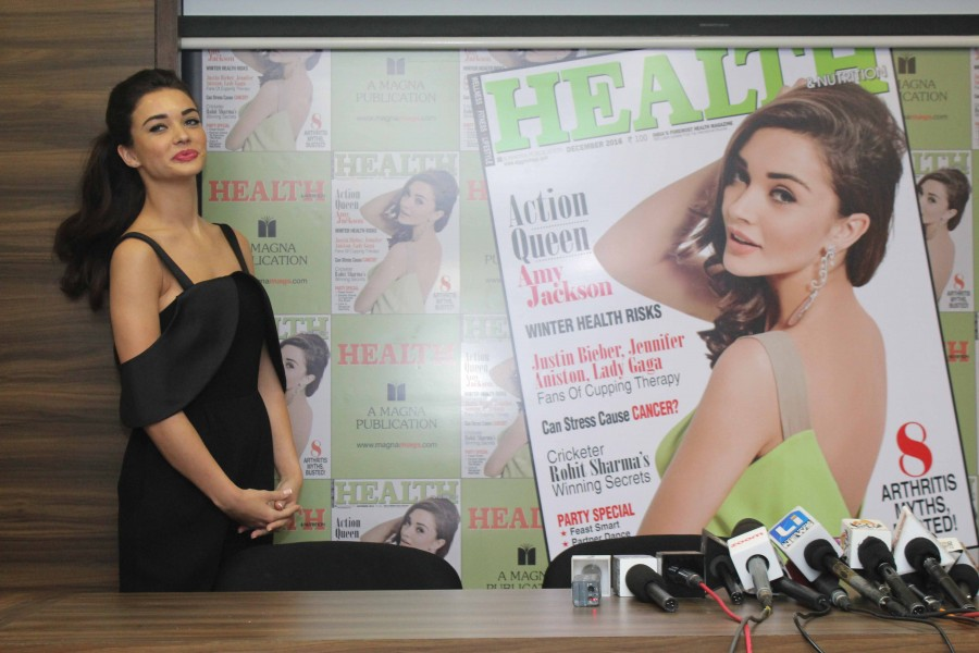 Amy Jackson,actress Amy Jackson,Amy Jackson unveils Health and Nutrition magazine,Health and Nutrition magazine issue December 2016,Health and Nutrition magazine issue,Amy Jackson hot pics,Amy Jackson hot images,Amy Jackson hot photos,Amy Jackson hot stil
