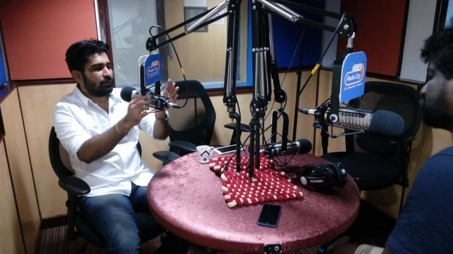 Vijay Antony promotes Saithan movie,Vijay Antony promotes Saithan movie at Radio City,Saithan movie at Radio City,Saithan movie promotion,Saithan movie promotion pics,Saithan movie promotion images,Saithan movie promotion photos,Saithan movie promotion st
