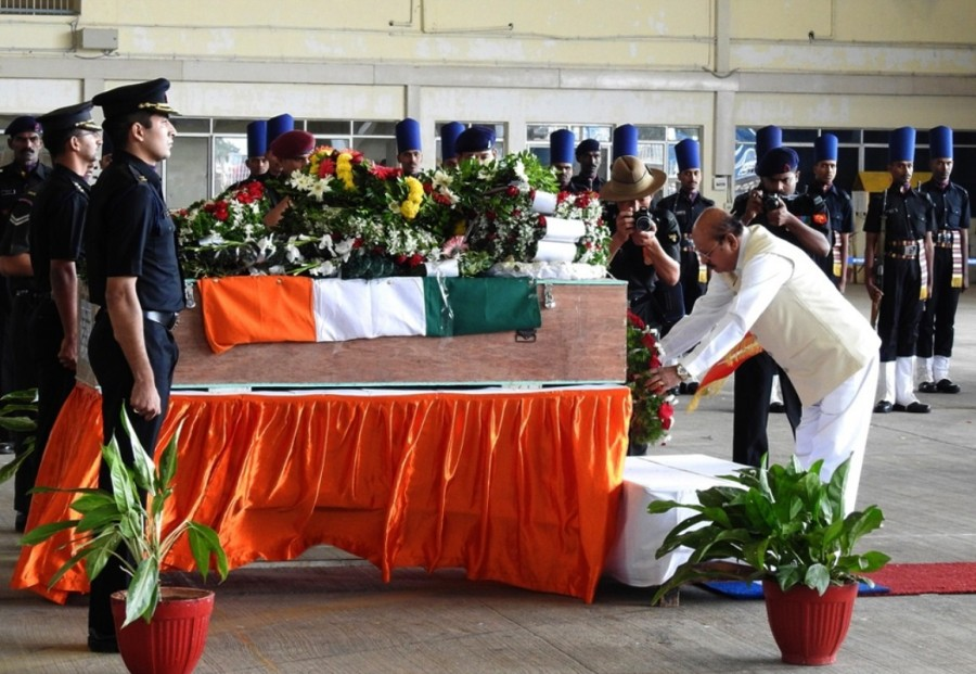 Martyr Akshay,Martyr Akshay mortal,Martyr Akshay mortal at Yelahanka AFS,Nagrota militant attack,Yelahanka Air Force Station,Yelahanka Air Force