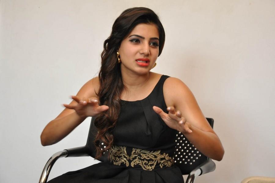 Samantha At S/o Satya Murthy Movie Press Meet Pictures,Samantha At S/o Satya Murthy Press Meet Photos,Samantha Press Meet Photos