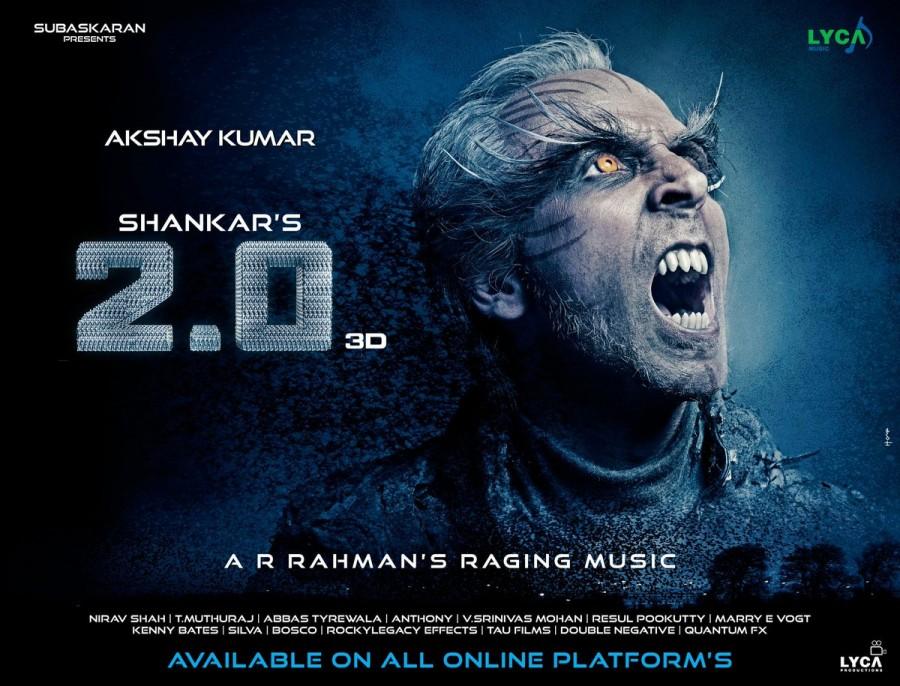Akshay Kumar,akshay kumar 2.0,2.0 new poster,2.0 poster,Akshay Kumar look in 2.0,Akshay Kumar in 2.0,Rajinikanth