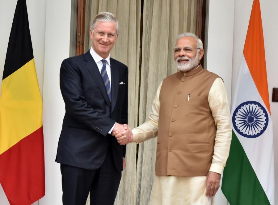 Narendra Modi,Narendra Modi meets Belgian King Phillip,Narendra Modi meets King Phillip,Belgian King Phillipe,Hyderabad House