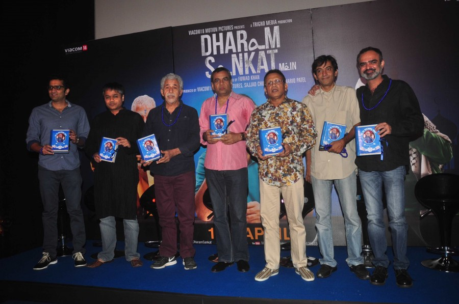 Paresh rawal,Naseeruddin Shah,Annu Kapoor,Dharam Sankat Mein,upcoming film,trailer launch,Vicky Donor,OMG - Oh My God!,photos
