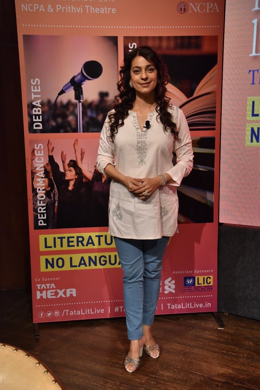 Juhi Chawla,Akshay Manwani,Shantanu Roy Chaudhuri,Deepa Gahlot,Tata Literature Live,The Mumbai LitFest