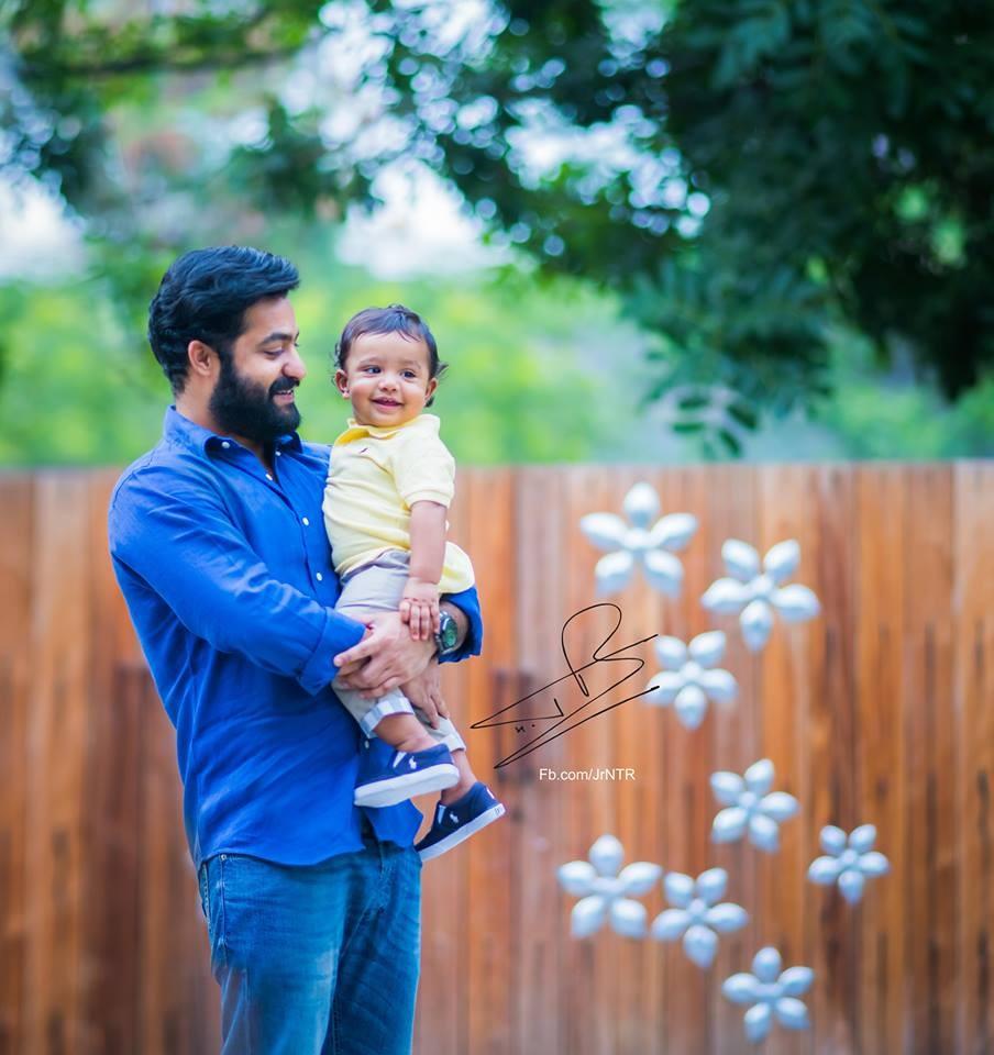 Jr NTR,Jr NTR son birthday,Jr NTR son Abhay ram birthday,Abhay ram birthday celebration,Telugu news,Jr NTR with son photos,Abhay Ram photos