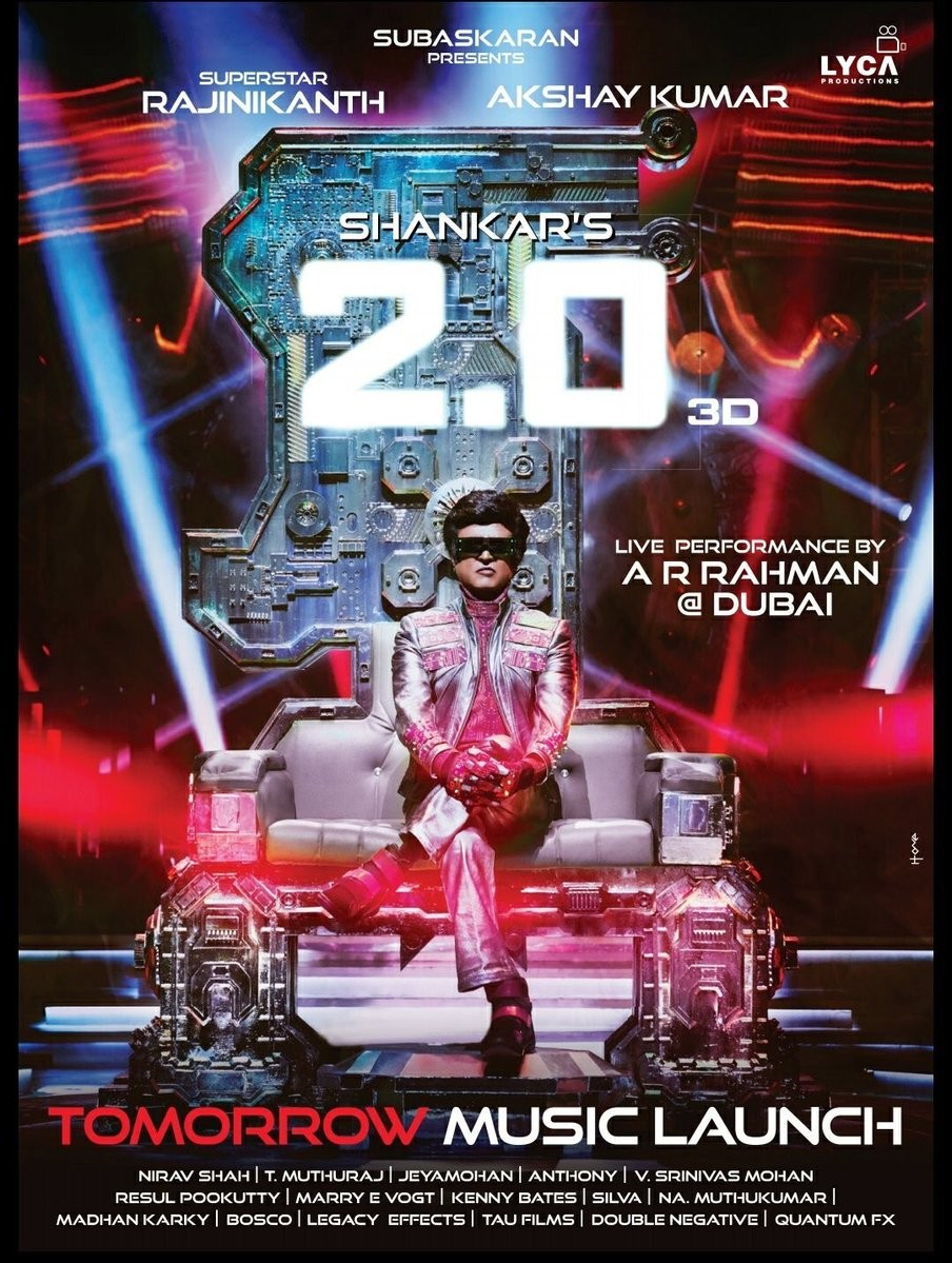 Rajinikanth,Superstar Rajinikanth,Rajinikanth returns as Chitti,Chitti,2.0 new poster,2.0 poster,2.0 movie poster,2.0 audio,2.0 audio launch,2.0 audio launch pics,2.0 audio launch images,2.0 audio launch stills,2.0 audio launch pictures,2.0 audio launch p