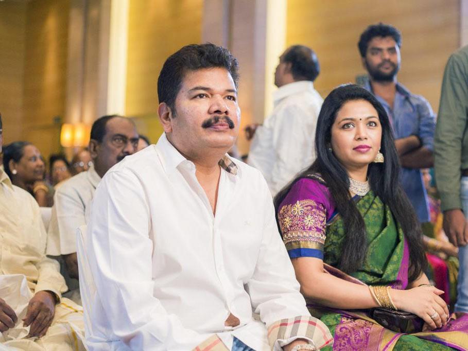 Shankar with his wife at Atlee Kumar's Wedding