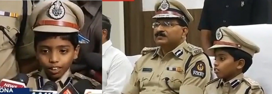 8-year-old made Hyderabad police commissioner for a day