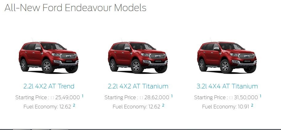Ford Endeavour, Ford Endeavour new price, Ford Endeavour revision