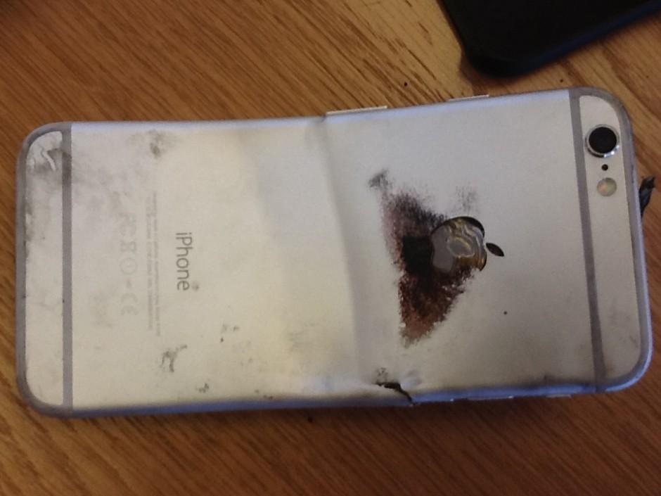 The back of the phone after cooling