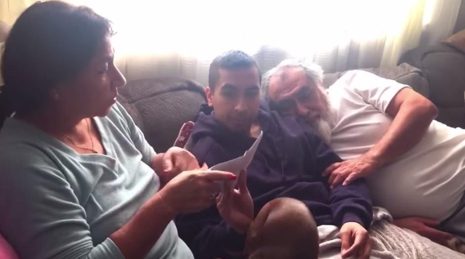 Joseph Riquelme with parents