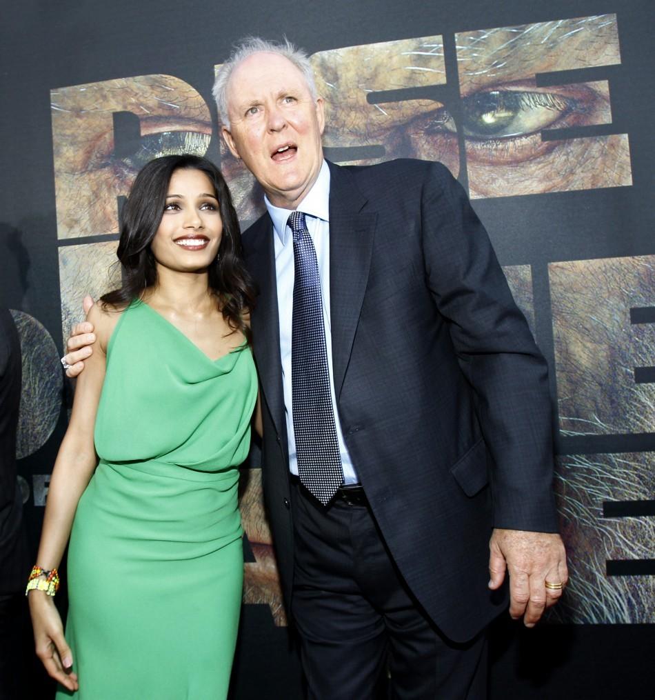 Freida Pinto and John Lithgow