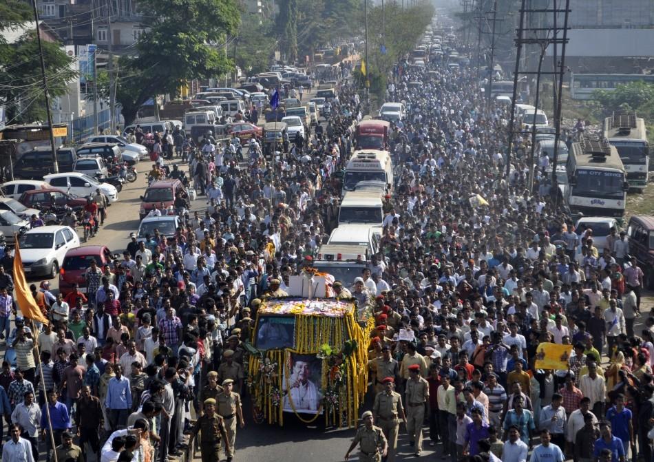 Bhupen Hazarika's funeral procession