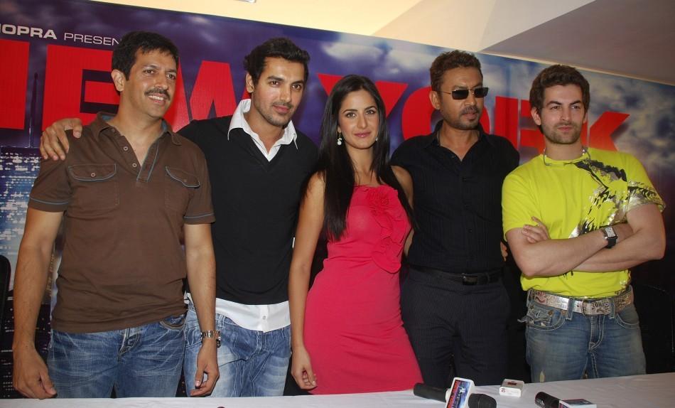 Neil Nitin Mukesh, Irrfan Khan, Katrina Kaif, John Abraham and director Kabir Khan