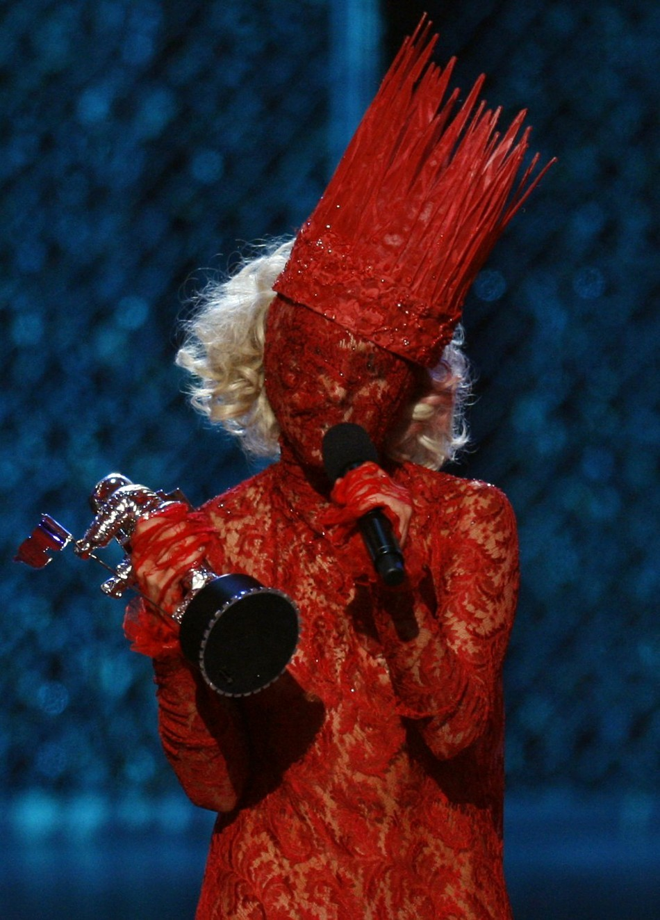 Lady Gaga accepts the award for best new artist at the 2009 MTV Video Music Awards in New York
