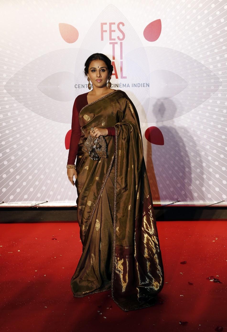 Jury Member actress Vidya Balan poses as she arrives at the evening's gala of the film