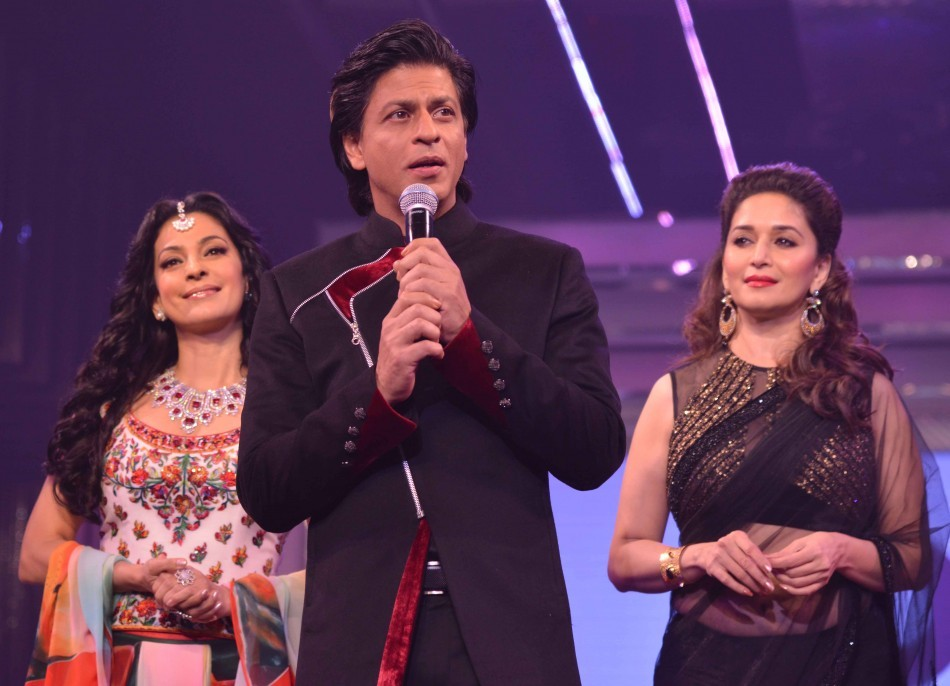 SRK , Madhuri Dixit and 'Darr' girl Juhi Chawla (varinder chawla)