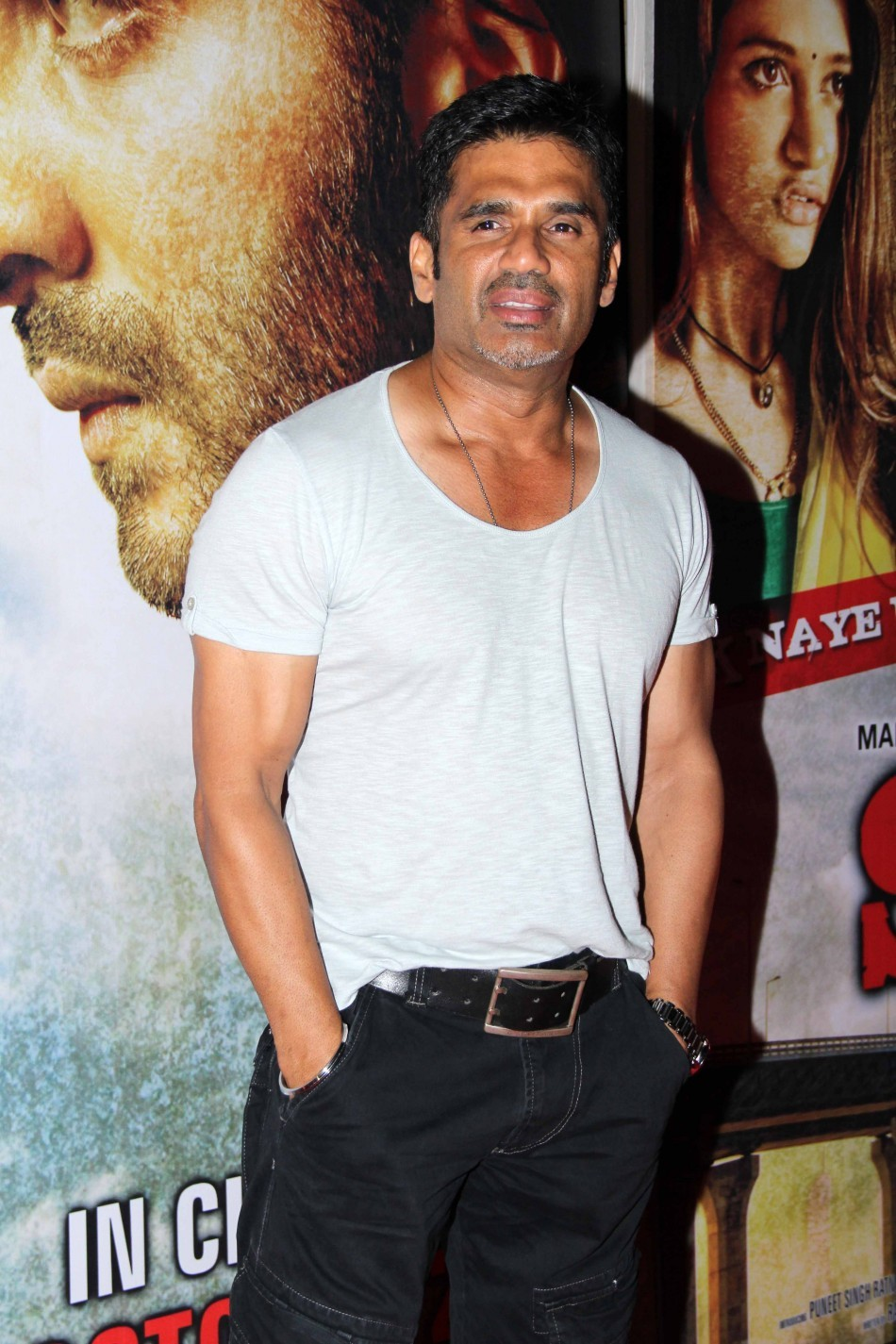 Veteran actor Suneil Shetty at the party