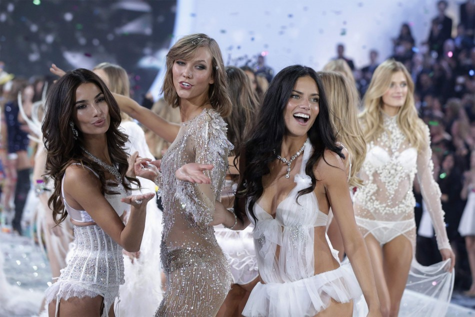Lima and Swanepoel dance during the finale of the annual Victoria's Secret Fashion Show in New York