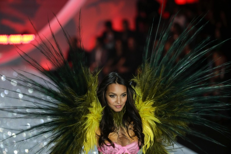 A model presents a creation during the annual Victoria's Secret Fashion Show in New York