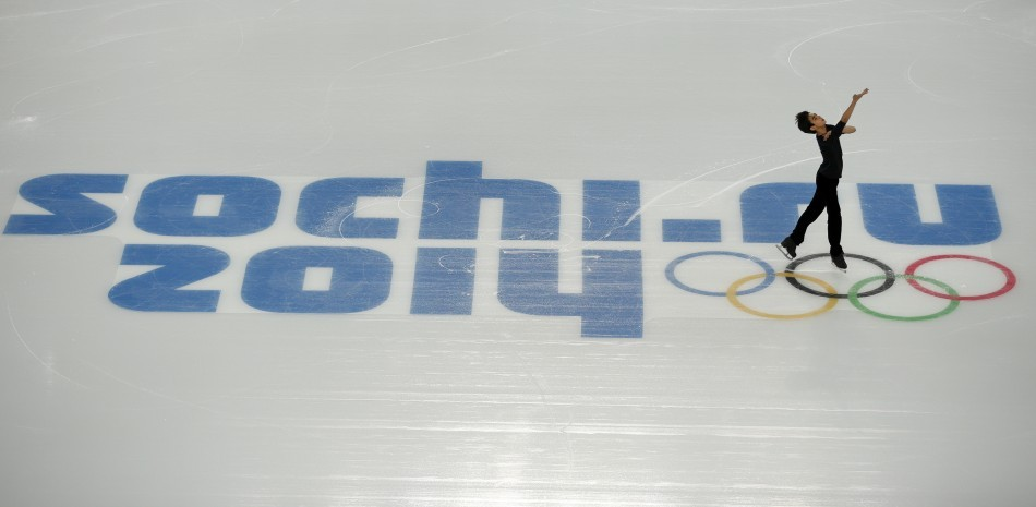Philippines' Michael Christian Martinez skates during the figure skating training session at the Iceberg Skating Palace at the Sochi 2014 Winter Olympics