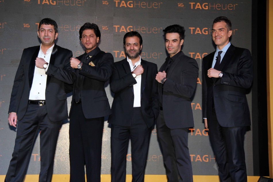 Shah Rukh Khan unveils Tag Heuer's Golden Carrera watch collection