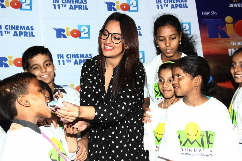 Sonakshi Sinha at special screening of 'Rio 2' with NGO kids