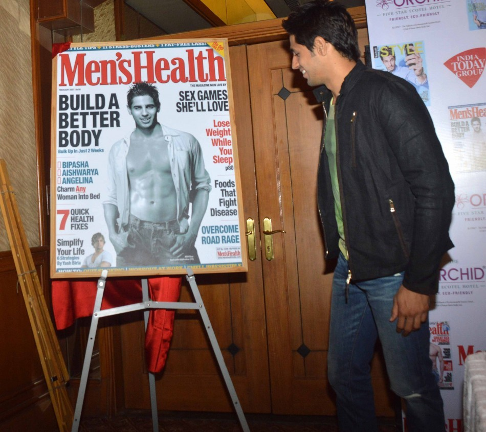 Bollywood actor Sidharth Malhotra, who features on the cover of the latest Men's Health Magazine, launched the issue on 14 April.
