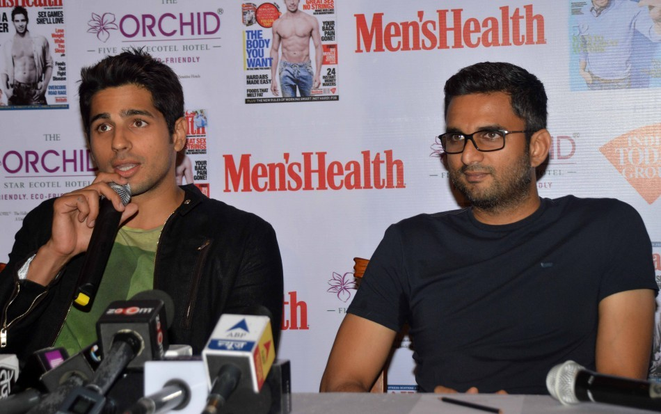 Sidharth Malhotra unveils Men's Health Magazine cover