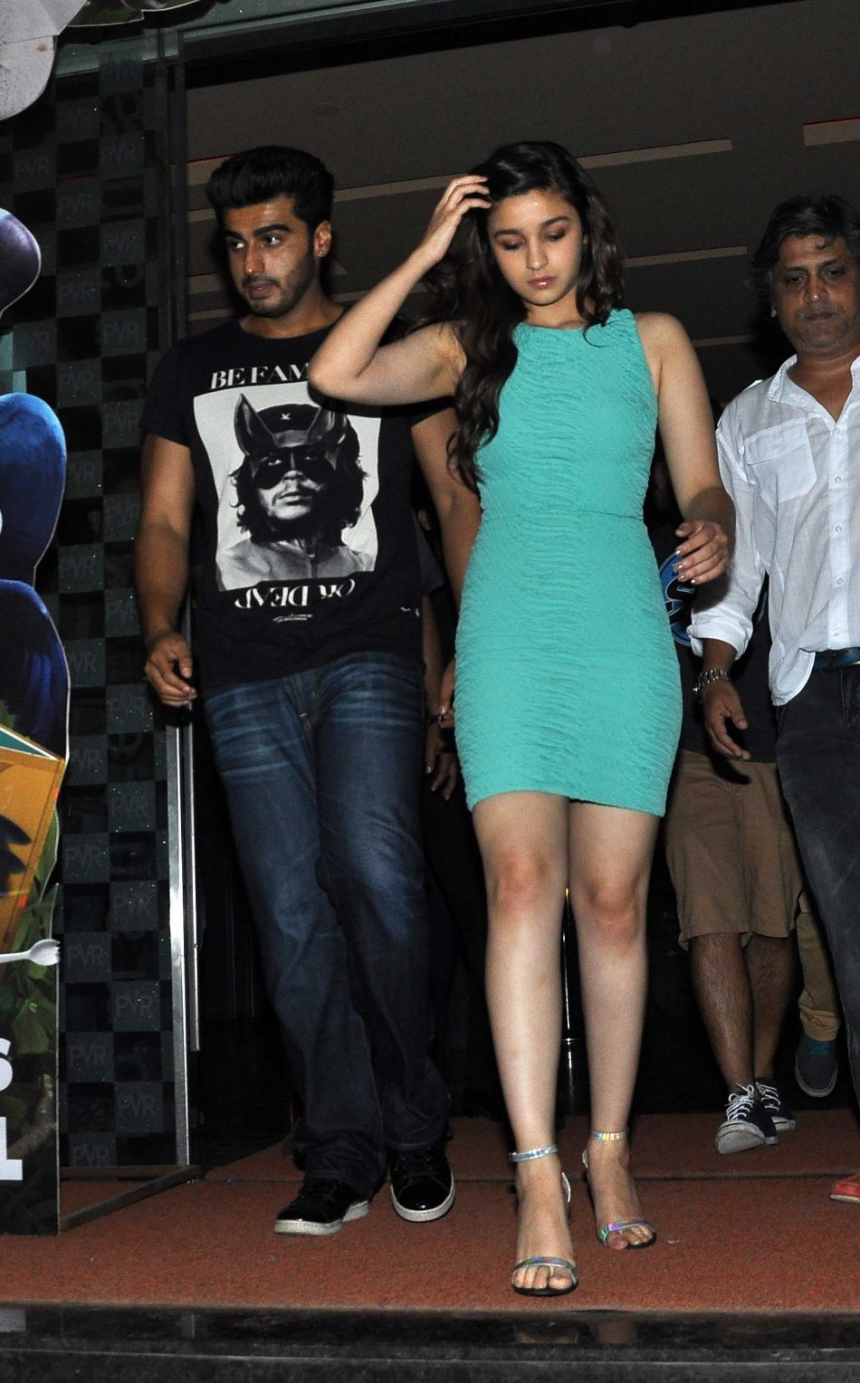 Arjun Kapoor and Alia Bhatt visits PVR Andheri to promote '2 States'