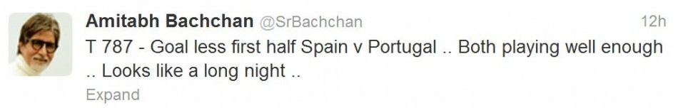Amitabh Bachchan's 787 tweet.