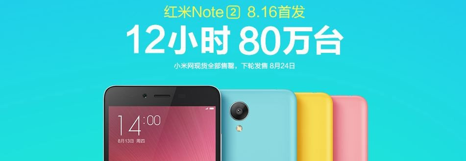Xiaomi Redmi Note 2: Record 800,000 Units Sold-out in 12 Hours in China; Will Company Replicate Same in India?