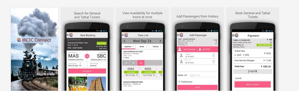 Official IRCTC Android App Now Available at Google Play Store