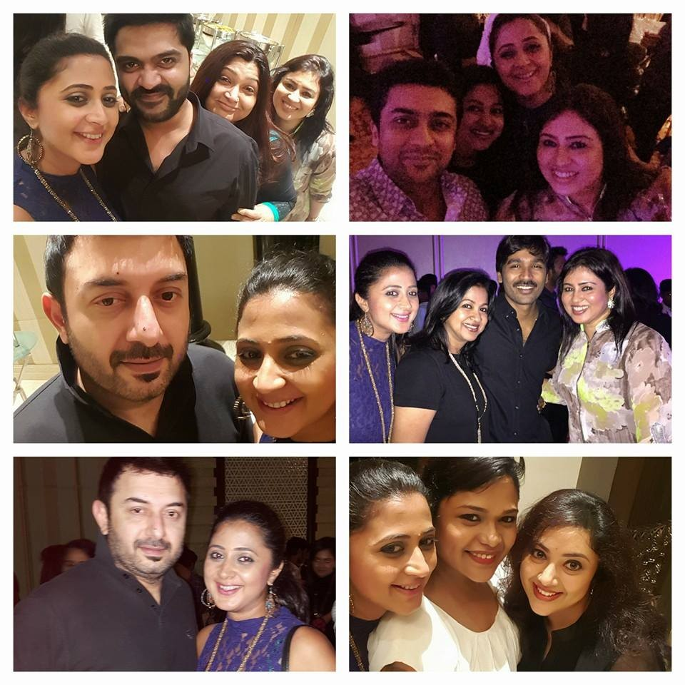 Kaniha,tamil actors party,kaniha with suriya,kaniha with arvind swamy