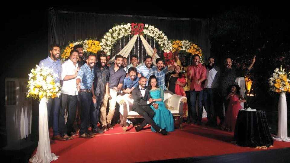 Rajesh Murugesan,rajesh Murugesan wedding,rajesh Murugesan marriage,rajesh Murugesan wedding pics,Premam team at Rajesh Murugesan wedding,nivin pauly,rajesh Murugesan songs,pista song