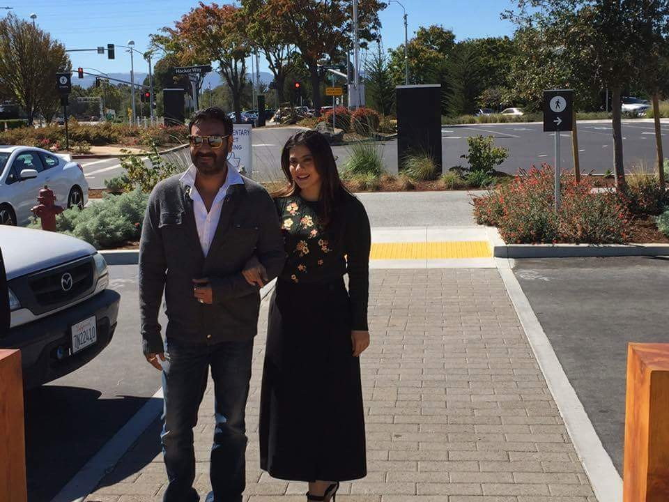 Ajay Devgn and Kajol,Ajay Devgn,Kajol,Shivaay,Shivaay promotion,Shivaay movie promotion,Shivaay in Facebook campus,Ajay Devgn and Kajol in Facebook campus,Ajay Devgn in Facebook campus,Kajol in Facebook campus,Facebook campus