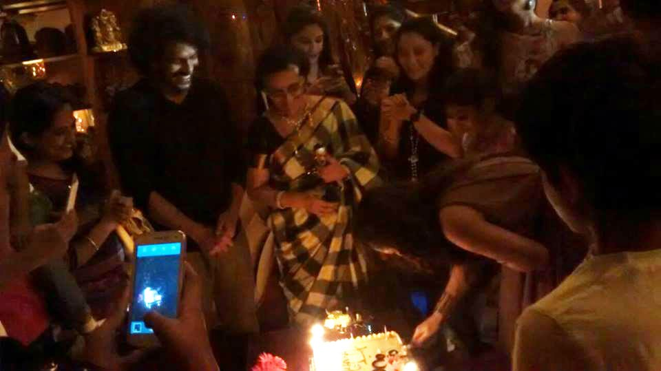 Priyanka Upendra Cutting The Birthday Cake