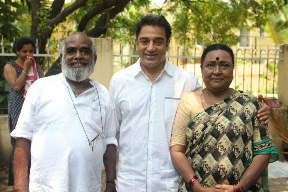 RC Sakthi with Kamal Haasan