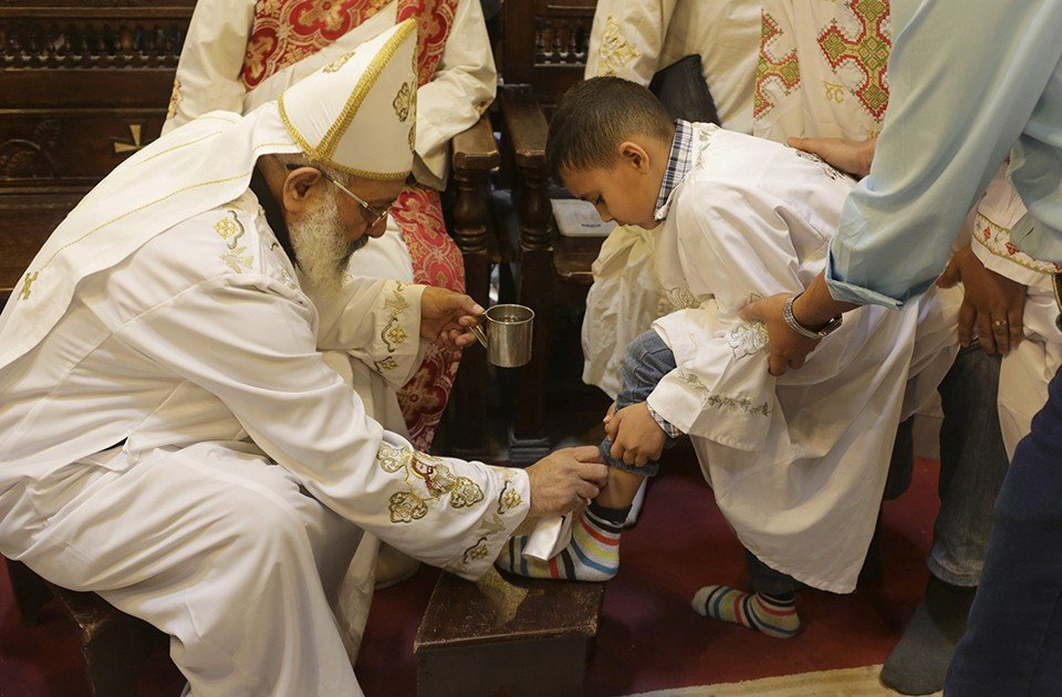 Several churches observe the tradition of washing of feet during Maundy Thursday.