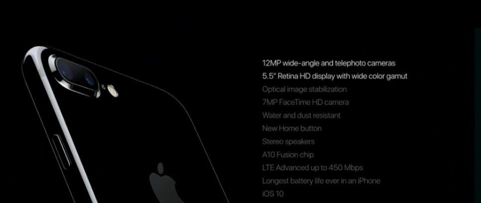 Apple iPhone 7 Plus details