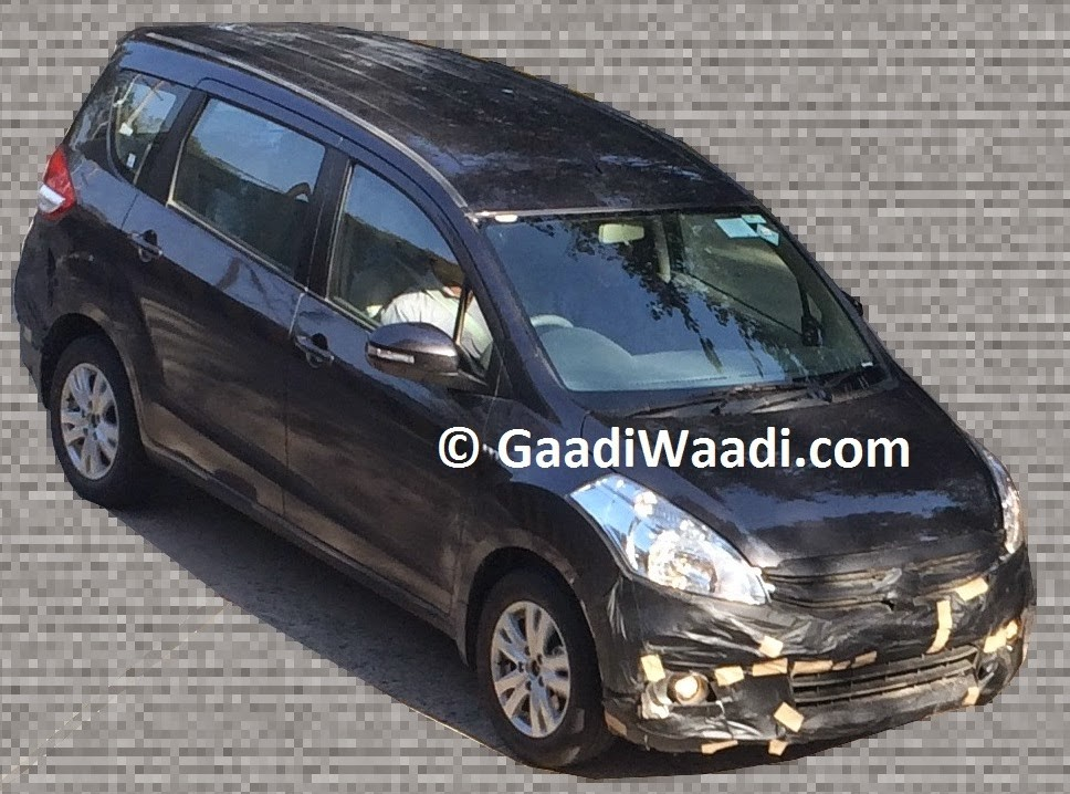 Maruti Ertiga to Get Facelift Soon, Spied for First Time