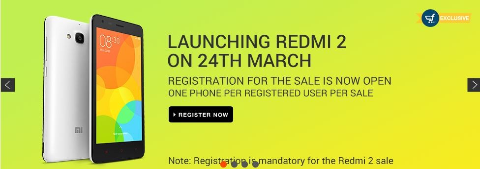 Xiaomi Redmi 2, Mi4 (64GB) Flipkart Flash Sale to Go Live on 24 March
