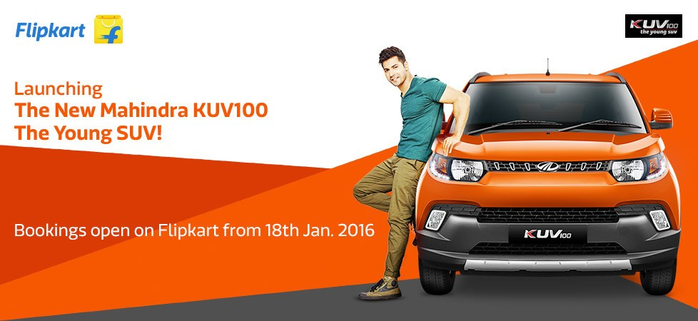 Mahindra KUV100 to be sold through Flipkart from 18 January